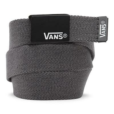 Vans Off The Wall Deppster Solid Charcoal Web Belt Bottle Opener Buckle New NWT