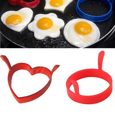 Funny 1 2PC Kitchen Tool Silicone Fried Fry Frier Pancake Egg Ring Mold