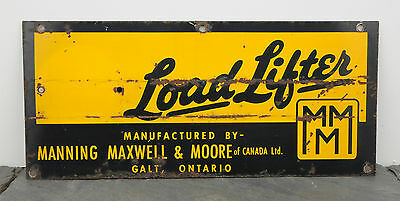 Load Lifter Manning, Maxwell & Moore Heavy Equipment Galt, ON Industrial Sign