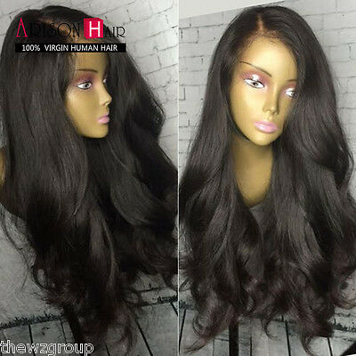 180% Full Lace/Lace Front Wigs Indian Human Hair Wig Body Wave Baby Hair Around