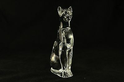 VTG Baccarat Crystal EXCELLENT CONDITION SITTING CAT/PUME FIGURINE