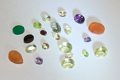 Natural Gemstones from Gold Scrap Recovery, 37.5 Carats