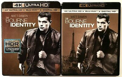 The Bourne Identiy 4K Ultra Hd Uhd Blu Ray 2 Disc Set + Slipcover Sleeve Buy It