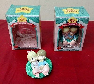 2 Lot Precious Moments Enesco 266094 Home For The Holiday Collection 1996  ✞