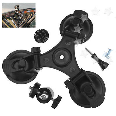 Black  Triangle Car Suction Mount  +360 Degree  Head For Car Gopro 1 2 3 3+ 4