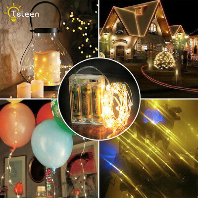 2/3/5/10m Silver Wire LED Mini Fairy String Light Outdoor 4.5V Battery Power 71