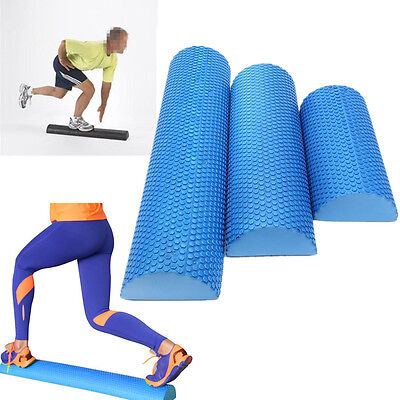 30/45/60cm EVA Yoga Pilates Fitness Half Round Foam Roller W/ Floating Point