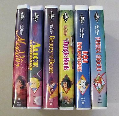 Assorted Disney Black Diamond VHS Tapes