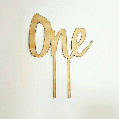 ONE timber / Wood cake topper