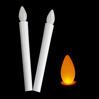 Newly Long Flameless Candles Flickering LED Tea Light Candles Battery Tealight c