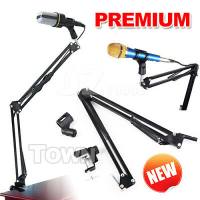 Metal Microphone Mic Boom Arm Stand Shock Mount and Desktop Mounting Clamp