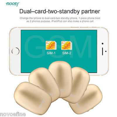 Noosy Bluetooth Gadget APP Dual SIM Card Adapter for iphone ipad itouch ipod IOS
