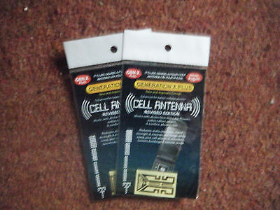 2 x Mobile Phone Cell Antenna Signal Branded Boosters  for Apple, Nokia, Samsung