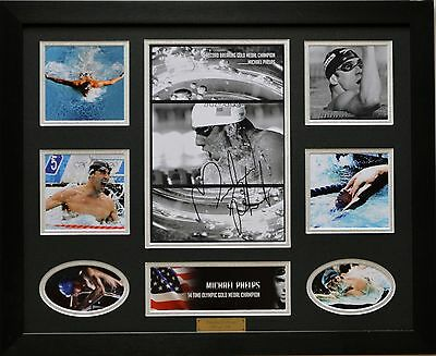 Michael Phelps Limited Edition Signed Framed Memorabilia