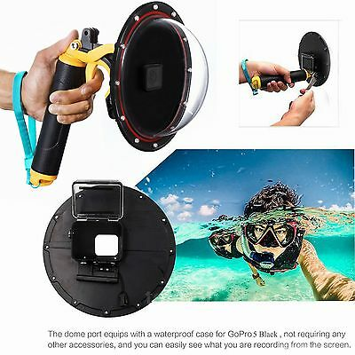 Underwater Diving Lens Dome Port for GoPro Hero 5 HD Camera +Handgrip Stabilizer
