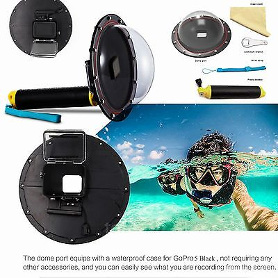 Underwater Diving Dome Port Camera Lens for GoPro Hero 5 Black HD Action Camera
