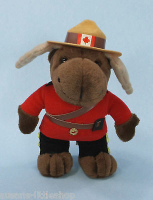 RCMP Moose in Red Royal Canadian Mounted Police uniform Soft Plush
