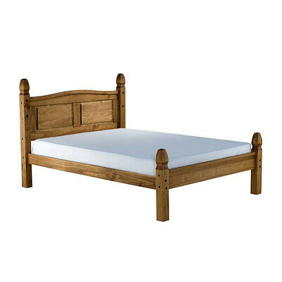 Corona Bed Frame - Single 3ft - Antique Pine - Low End