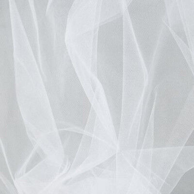 Wedding Dancing Tutu TULLE, WHITE Very Soft & Fine Polyester Tuile 1m x 150cm...