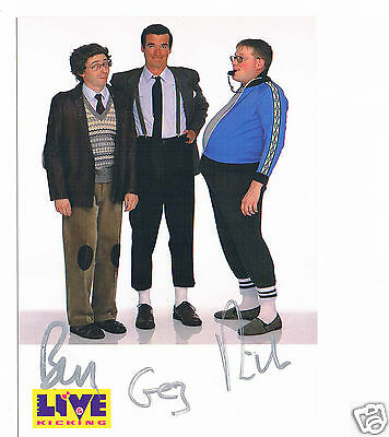 Live & Kicking Ben, Gez and Rich Fully Hand signed  6 X 4 Vintage Photograph