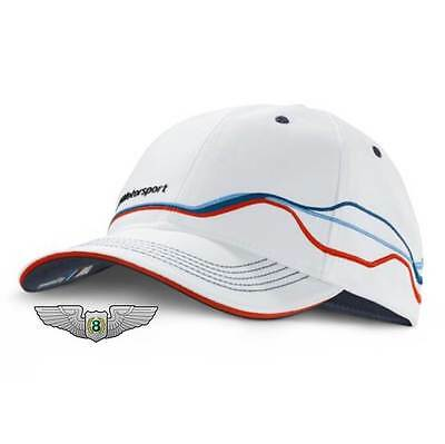 BMW New Genuine M Motorsport Fan Unisex Baseball Cap Hat (White) 80162285865