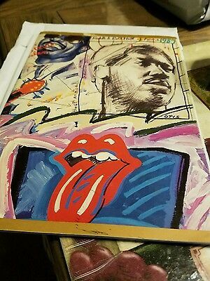 1989 ROCK AND ROLL HALL OF FAME Induction Program - ROLLING STONES STEVIE WONDER