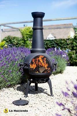 Luxury Cast Iron Steel Chimenea Chiminea Patio Heater Firepit Garden Outdoor NEW