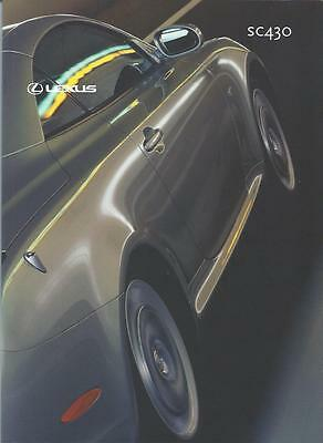 Lexus SC430 UK Market Brochure May 2002 64 Pages inc Technical Specifications