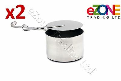 2x Stainless Steel Chafing Fuel Holder Restaurant Catering Buffet dishes Chafer