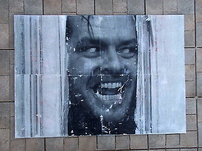"Nigel Borowskj  "" The Shining  ""  Technique Mixte sur Panneau , Street Art"