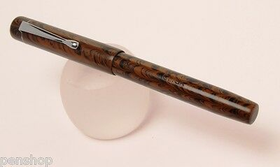 Handmade Classic Ebonite Fountain Pen Chocolate Brown Eyedropper Made In India