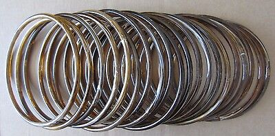 """Lot of 10 Pairs Brown Marble 8"""" Round Plastic Macrame Purse Handles Craft Ring"""