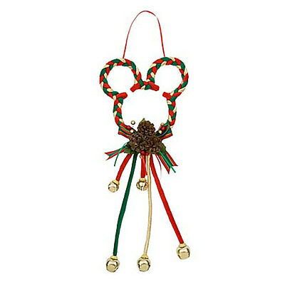 Disney Parks Red Green & Gold Mickey Mouse Ears Christmas Door Hanger