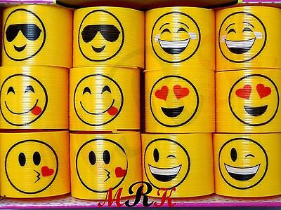 6CM LARGE SMILEY SPRING COIL SLINKY FUN KIDS TOY MAGIC STRETCHY BOUNCING gift