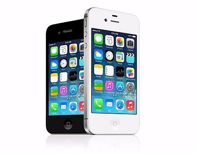 Apple iPhone 4S - 8 16 32 64GB - AT&T 4G GSM Smartphone (+H20 Net10) Black White