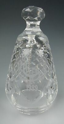 Waterford Crystal 12 DAYS OF CHRISTMAS 6 Geese Laying Bell 1989 EXCELLENT