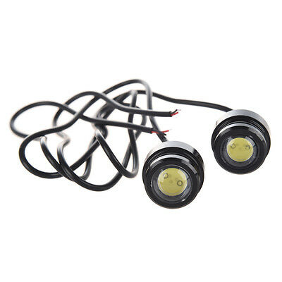 07S8 2x Motorcycle Motorbike Quad LED Fog Lights DRL Daytime Running Projector