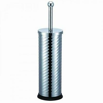 Blue Canyon Bathroom Metal Chrome Durable Twist Toilet Brush And Holder