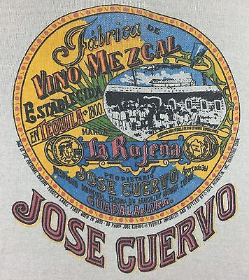True Vintage 1974 Jose Cuervo 1800 Tequila Liquor Alcohol Long Sleeve T-Shirt S