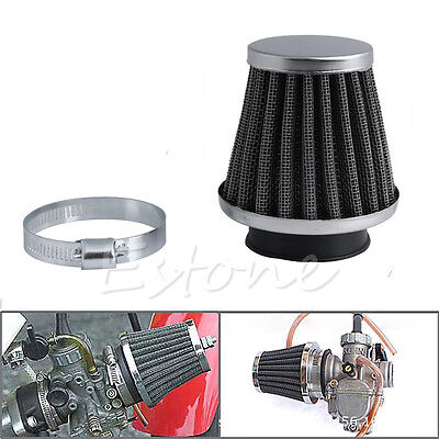 50MM Intake Refit Air Filter Cleaner Clamp-on Fit for Motorcycle Scooter ATV Hot