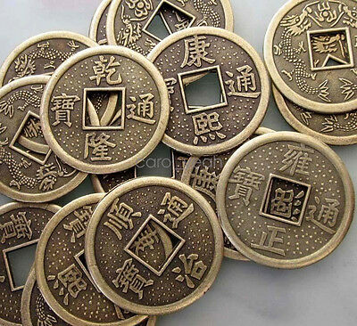 30Pcs Copper Coated Chinese Ancient Money Coins Beads Finding--Jewelry Beads