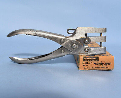 NOS Sargent Heavy Duty Hole Punch - 6 1/2