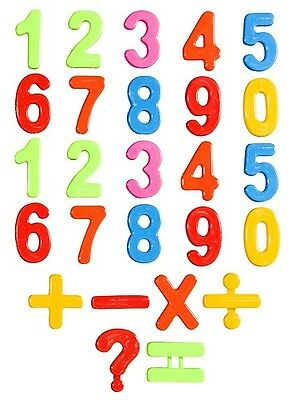 New 16PC COLORFUL MAGNETIC  NUMBERS FRIDGE MAGNETS LETTER LEARNING COUNTING