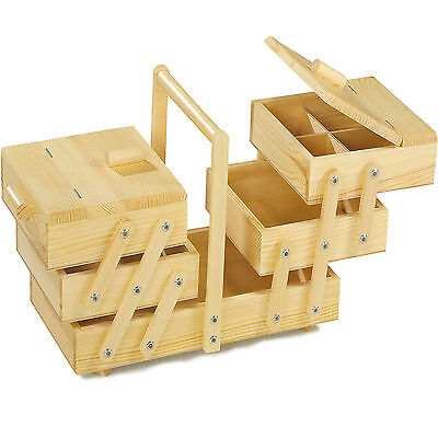 Large Sewing box made of wood 40x26 cm Pine wood solid Household sewing box Sew