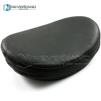 Leather Passenger Seat Backrest Pillion Cushion Pad+Suction For Harley Chopper