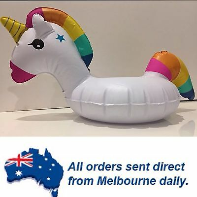 NEW STOCK Premium White Inflatable Unicorn Drink/Can Holder Pool Party Beach