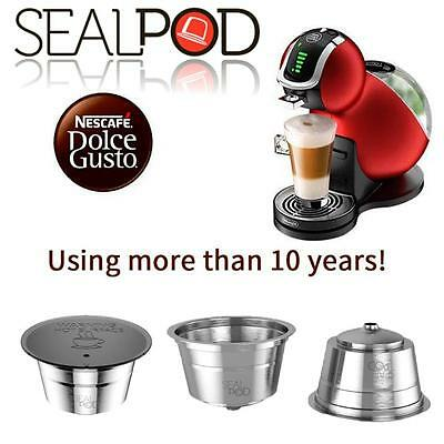 SealPod Stainless Steel Reusable Coffee Pod Capsule Nescafe Dolce Gusto DGPod