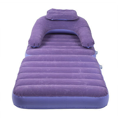 Inflatable Pull-Out Sofa Couch Single Air Bed Mattress Sleeper Purple