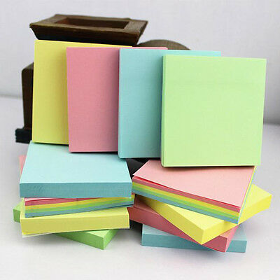 100/400 Pages Sticky Notes Notebook Memo Pad Bookmark Paper Sticker Notepad AU