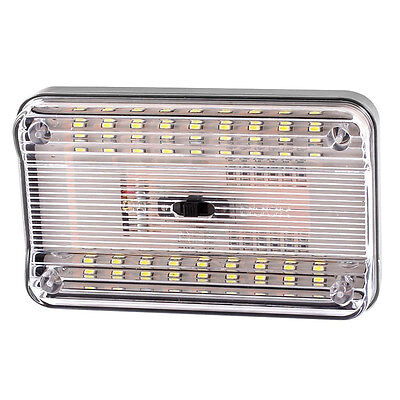 07S8 White 36 SMD LED Dome Roof Ceiling Interior Light